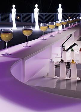 Bars et buffets lumineux